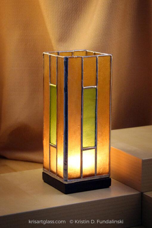 Kris Art Glass Mission 3x7 Amber-Kiwi