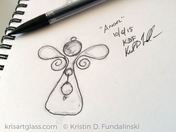 Fundalinski - Angel sketch