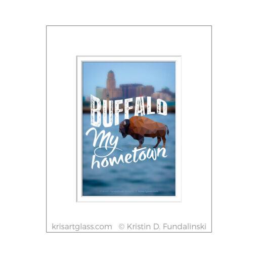 Fundalinski - BuffaloMy hometown - 5x7 with matt
