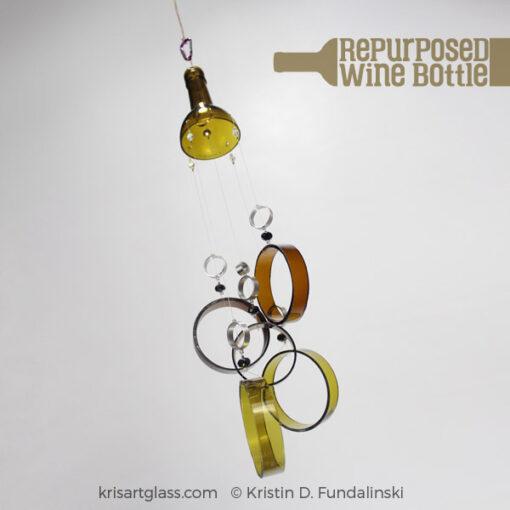 Fundalinski - Wine Bottle Wind Chimes - Green