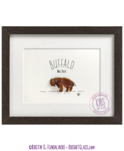 KFundalinski Pebble Art Buffalo Bison