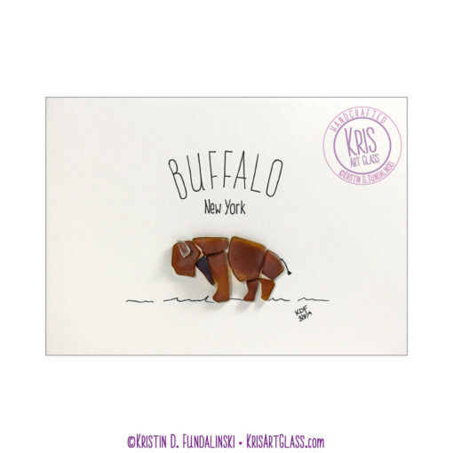 KFundalinski Pebble Art Buffalo Bison