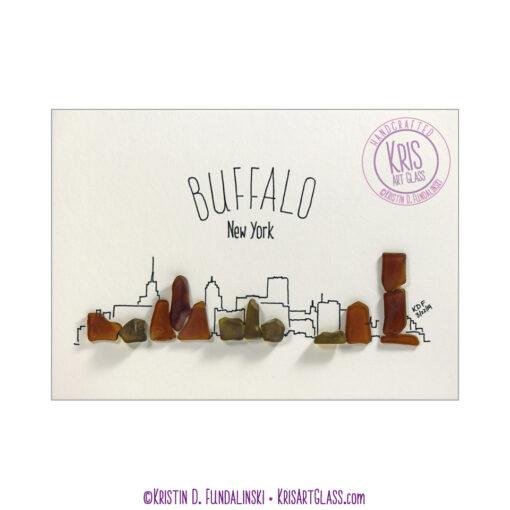 KFundalinski Pebble art Buffalo Cityscape